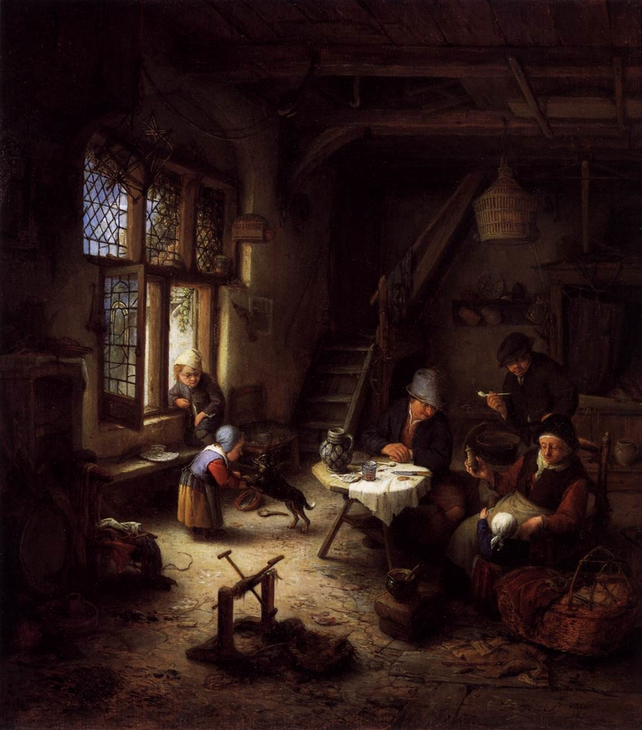 A Peasant Family in an Interior