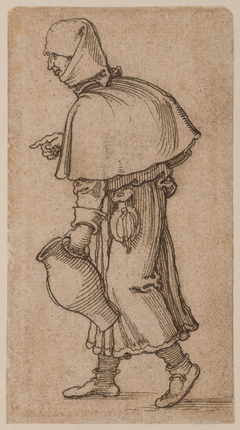 A Peasant Woman Carrying a Jug