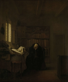 A Scholar in his Study (The Old Savant)