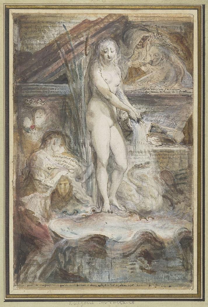 Allegorie op de dood van Voltaire
