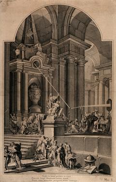 An Allegorical Monument to Sir Isaac Newton
