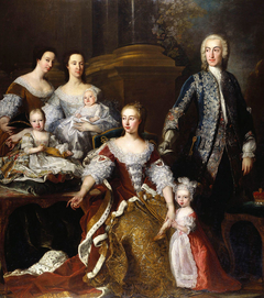 Augusta, Princess of Wales with Members of her Family and Household