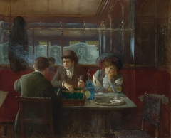 Backgammon at the Café