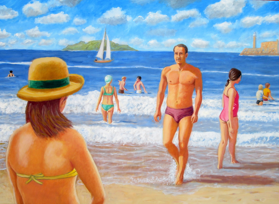 Bathers (2015) oil on linen, 81 x 111 cm
