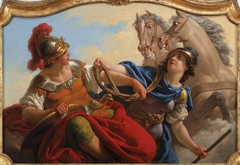 Bellona Presenting the Reins of his Horses to Mars