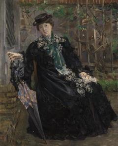 Bildnis Frau Charlotte Berend-Corinth im Garten