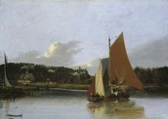 Boats on the Yare near Bramerton, Norfolk