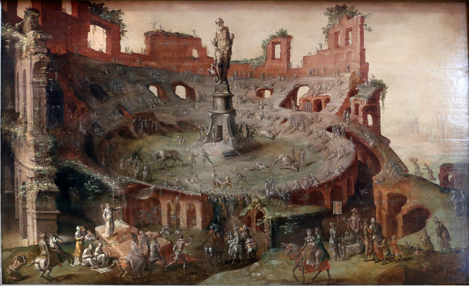 Bullfighting in the Colosseum ruins