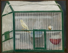 Cage with a canary