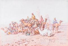 Camel Caravan at Rest