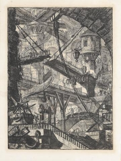 """Carceri d'invenzione"" The drawbridge, First Paris edition"