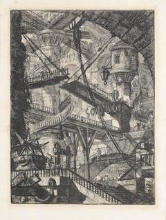 """Carceri d'invenzione"" The drawbridge, First Paris edition"