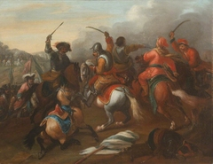 Cavalry Battle between Turks and Christians