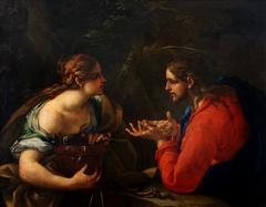 Christ and the Samaritan woman.