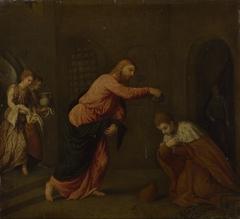 Christ baptising Saint John Martyr