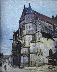 Church in Moret in winter