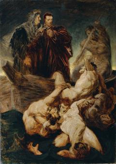 Dante und Vergil im Inferno