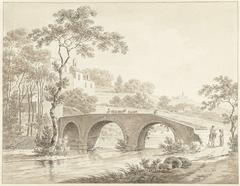 De brug over de Tiber bij Narni in de Romeinse Campagna