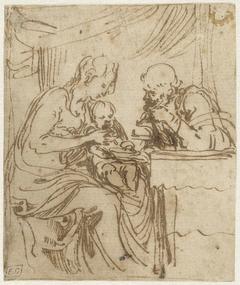 De Heilige Familie bij de maaltijd