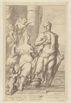 De Voorzichtigheid toont Hercules de spiegel der deugd en moed