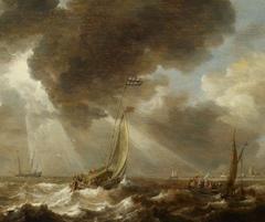 Dutch Ferry Boats in a Fresh Breeze