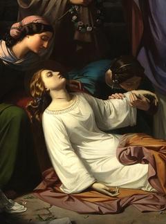 Entierro de Santa Cecilia en las catacumbas de Roma (Detail)