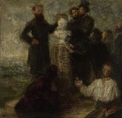 Esquisse pour l'Hommage à Delacroix