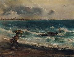 Fischerknabe am Meeresstrand