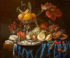 Fruit and Herring on a Table