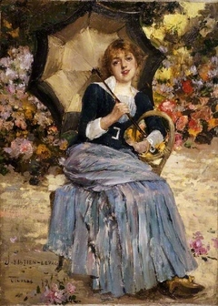 Girl with a sunshade