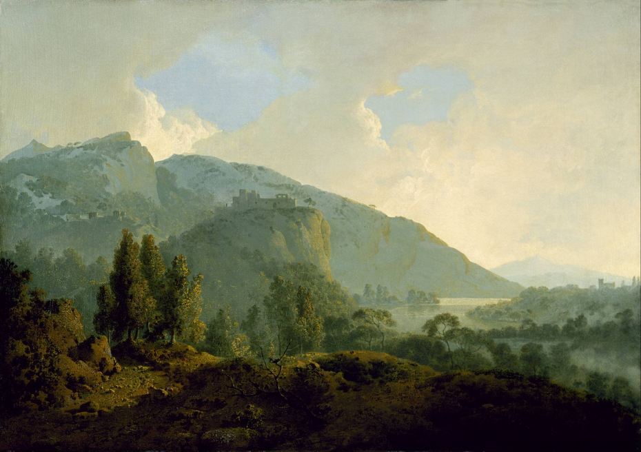 Italian Landscape with Mountains and a River