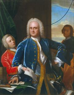 Jan Albert Sichterman with his sons Jan Albert and Gerrit Jan