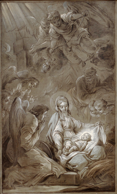 L'adoration des anges Esquisse