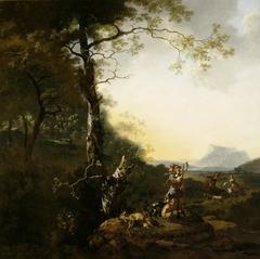 Landscape with Huntsmen