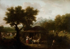 Landscape with Pastoral Figures and Animals (from Milton's 'L'Allegro' [1645])