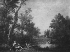 Landscape with Peasant Women Resting by a Pond in a Wood