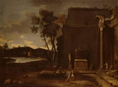 Landscape with sarcophagus