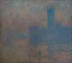 Le Parlement de Londres, effet de brouillard
