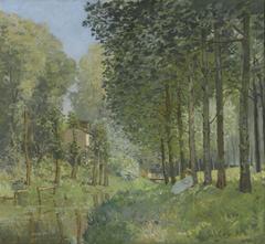 Le Repos au bord d'un ruisseau. Lisière de bois