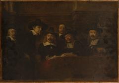 Les syndics des drapiers, copie d'après Rembrandt