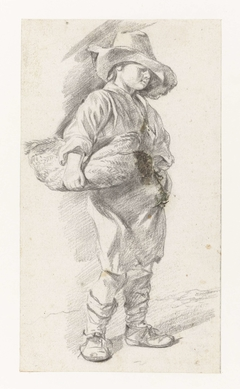 Little Boy with Basket