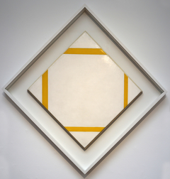 lozenge composition with yellow lines