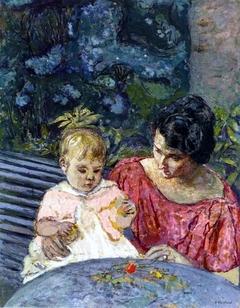 Madeleine Descorps et son fils Bernard