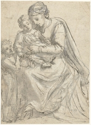 Madonna met Christuskind en Johannes-knaapje