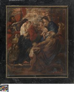 Madonna omringd door heiligen