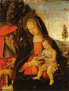 Madonna with Writing Child and St. Jerome