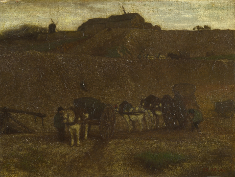 Men unloading Carts, Montmartre