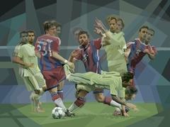 """""""Messi cae"""" (serie: Tacos de Acero)"""