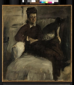 Mme Jeantaud in an Armchair with Two Dogs