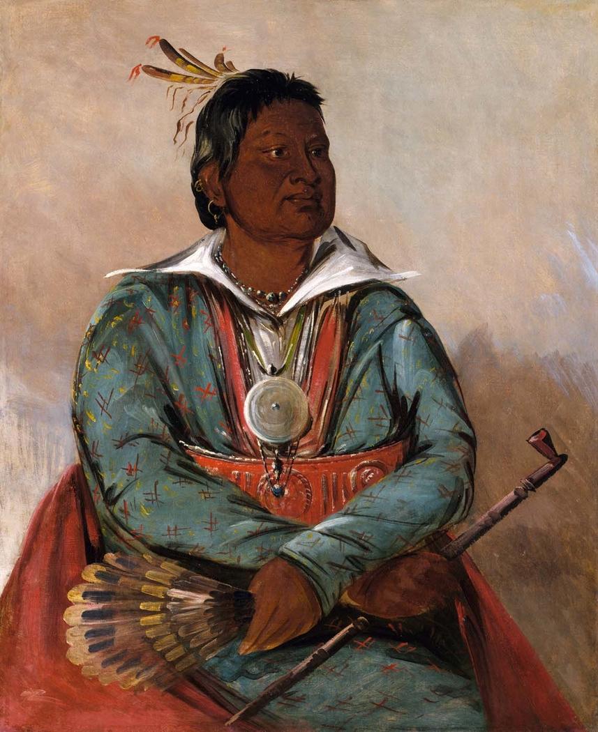 Mó-sho-la-túb-bee, He Who Puts Out and Kills, Chief of the Tribe